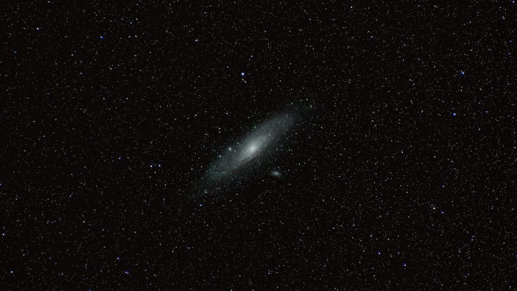 galaxie andromède télescope