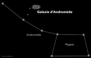 trouver galaxie andromède