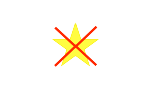 étoile barrée
