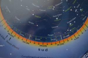 carte du ciel graduations